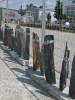 Neue Säulen aus Schiefer angekommen