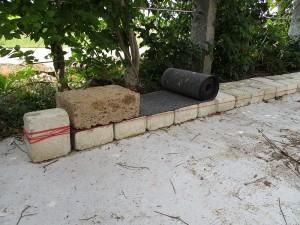 Unterbau Tuff Mauer