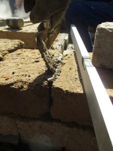 Mörteln Tuff Mauersteine
