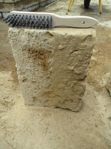 Aufbau Tuffmauer