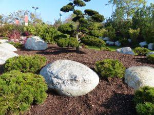 Gletscherfindlinge, Kiesel, Gartenanlage