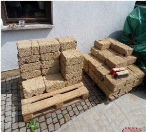 Tuff Mauersteine Lieferung