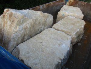 Jurakalk Mauersteine gespalten